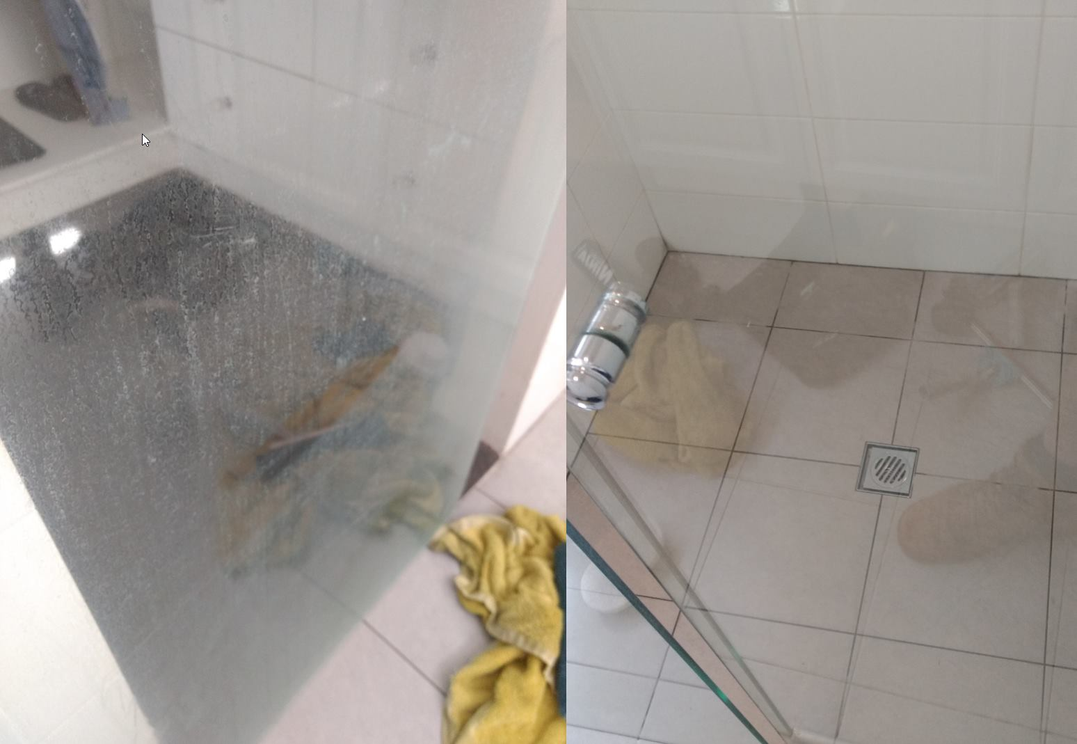 Hard Water Stain Removal and Shower Screen Restoration, Perth
