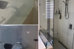 Shower hard water removal