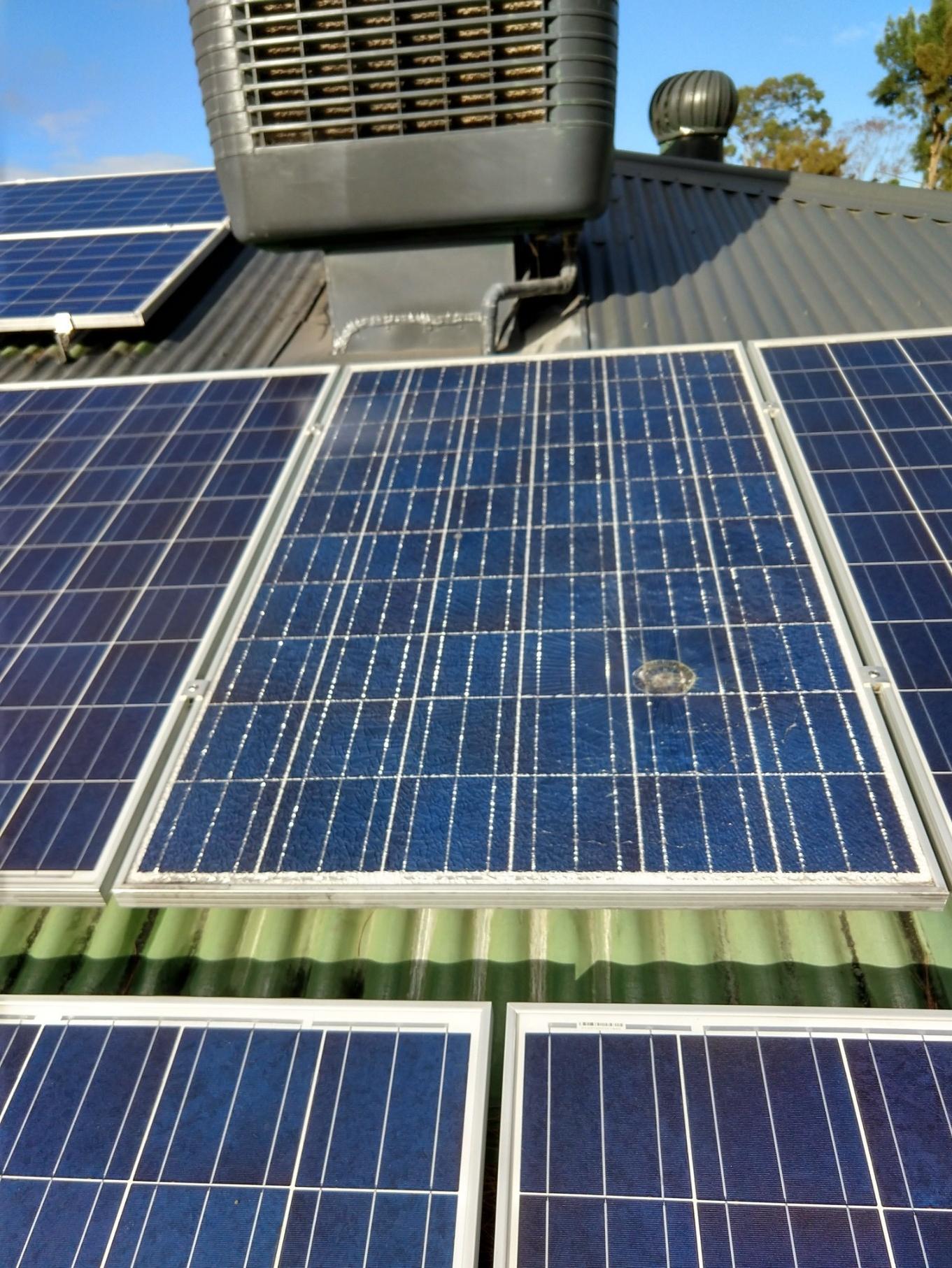 Smashed Solar Panel