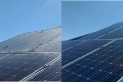 Solar Panel Clean Before and After