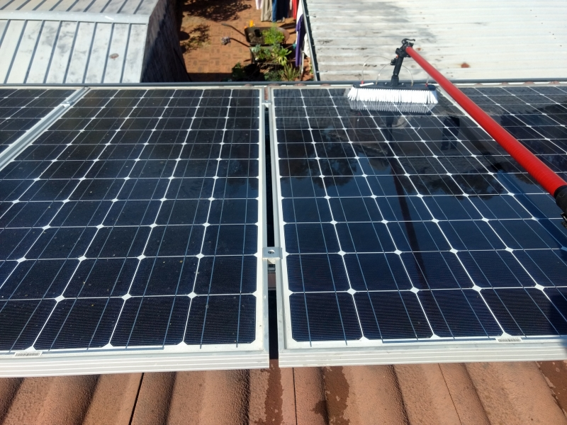 Solar Panel Cleaning 1